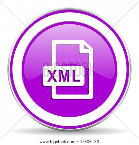 xml file violet icon