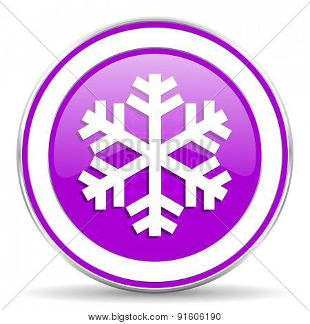 snow violet icon air conditioning sign