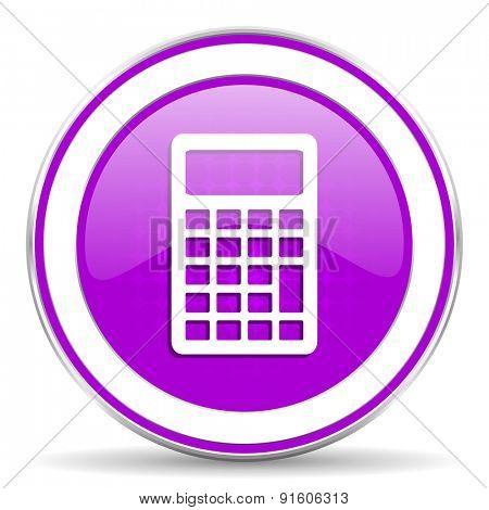 calculator violet icon