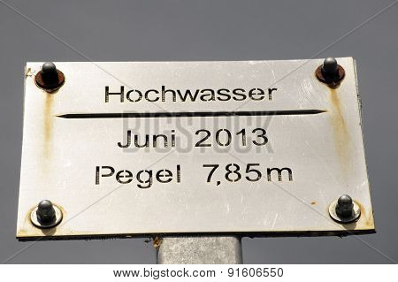 High-water mark Elbe 2013