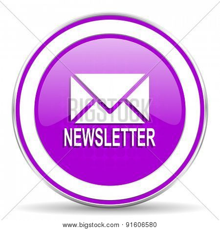 newsletter violet icon