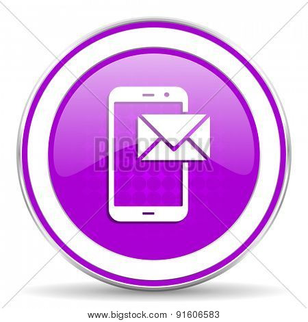 mail violet icon post sign