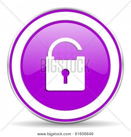 padlock violet icon secure sign