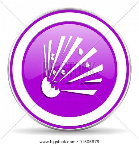 bomb violet icon