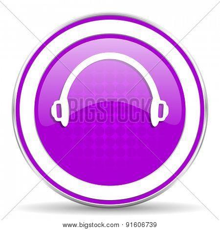 headphones violet icon