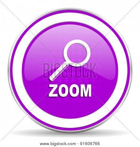 zoom violet icon