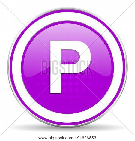 parking violet icon