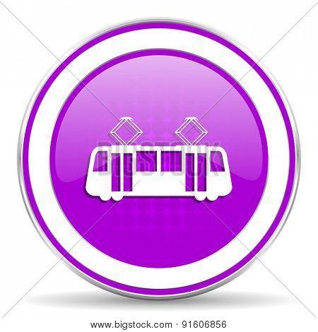 tram violet icon public transport sign