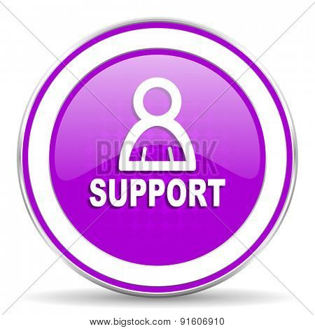 support violet icon