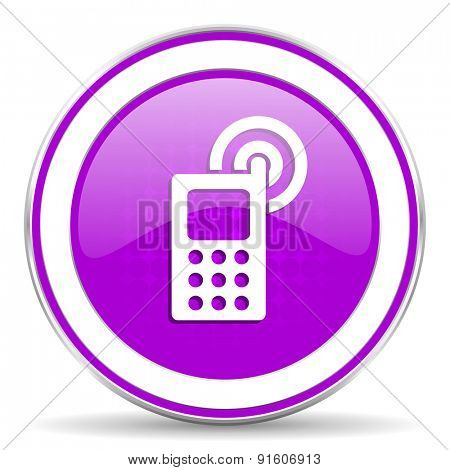 phone violet icon mobile phone sign