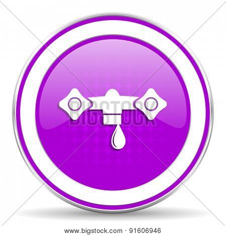 water violet icon hydraulics sign