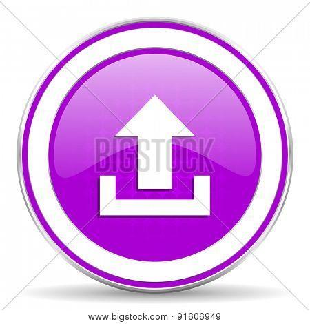 upload violet icon