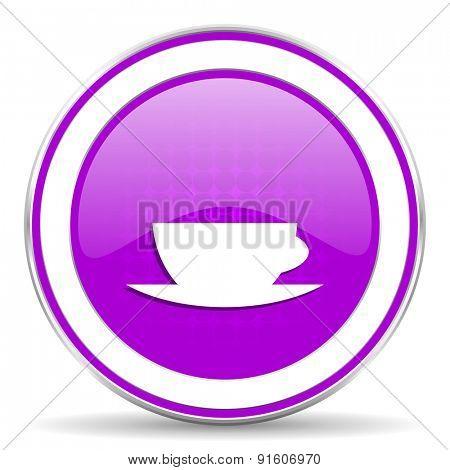 espresso violet icon caffe cup sign