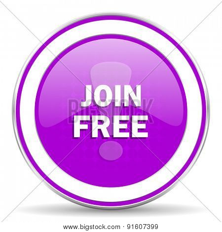join free violet icon