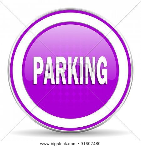 parking violet icon