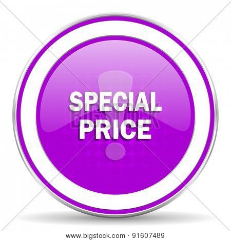 special price violet icon