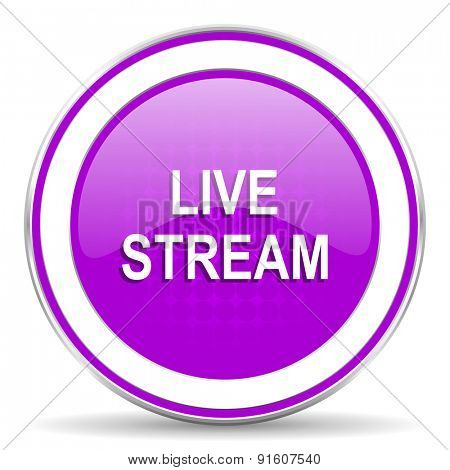 live stream violet icon