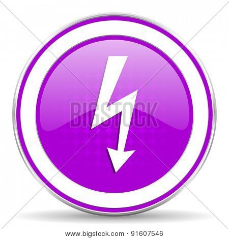 bolt violet icon flash sign