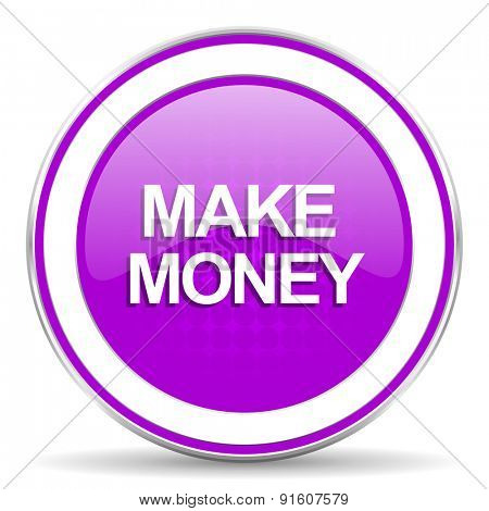 make money violet icon