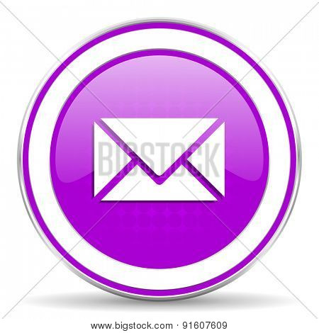 email violet icon post sign