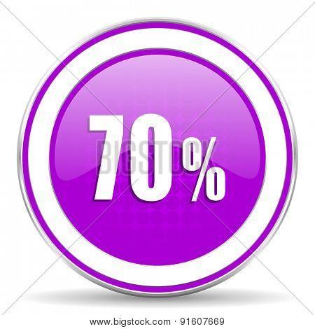 70 percent violet icon sale sign