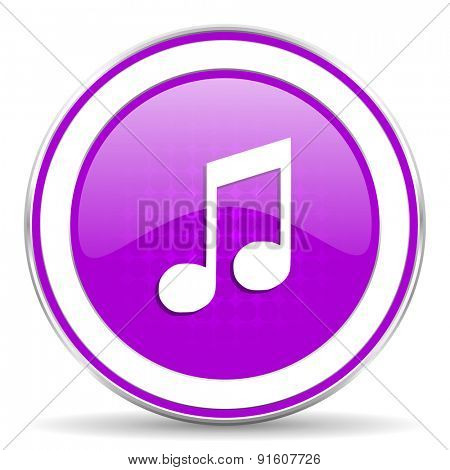 music violet icon note sign