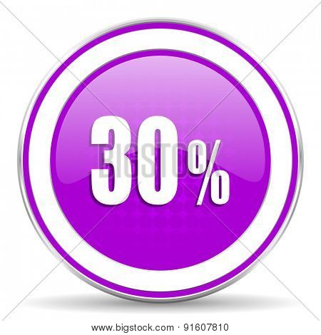 30 percent violet icon sale sign