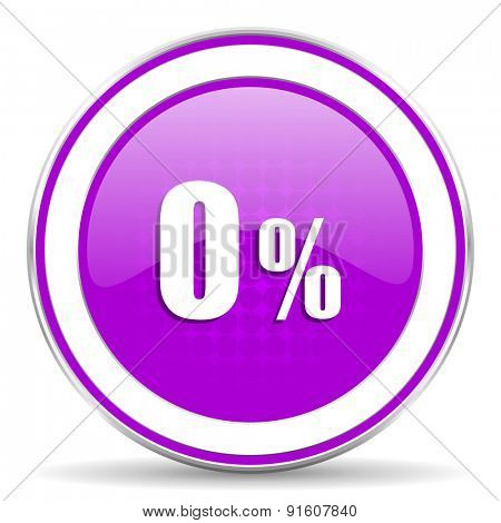 0 percent violet icon sale sign