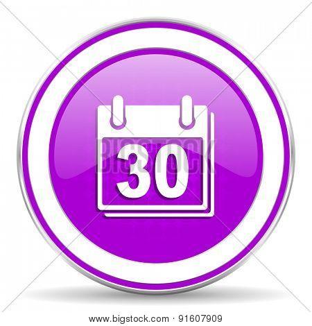 calendar violet icon organizer sign
