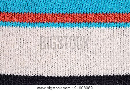 Striped Colorful Stockinet Background