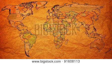 Norway Territory On World Map