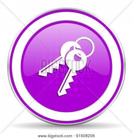 keys violet icon