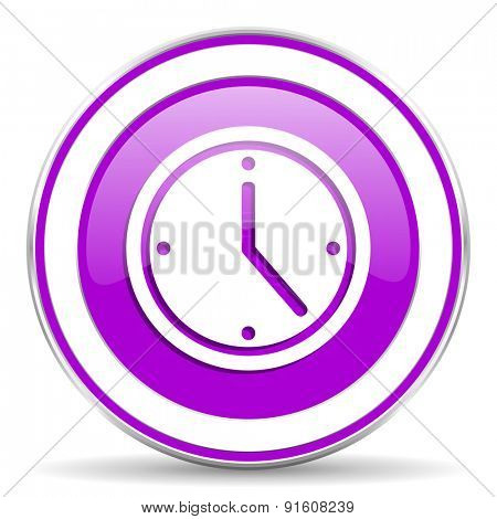 time violet icon watch sign