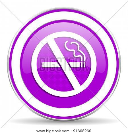 no smoking violet icon
