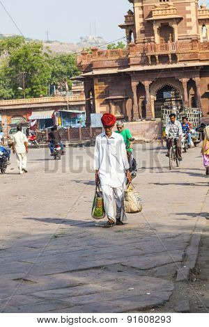 People Hurry At The Sadar Market At The Clocktower