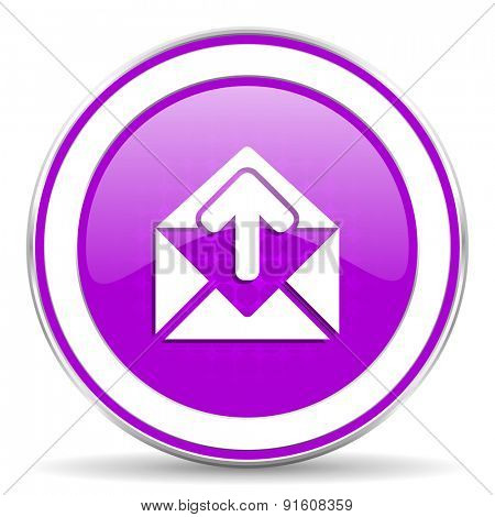 email violet icon post message sign