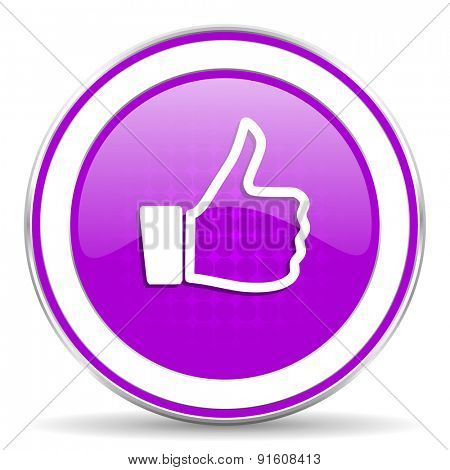 like violet icon thumb up sign