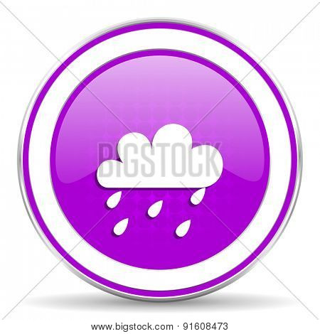 rain violet icon waether forecast sign
