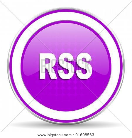 rss violet icon