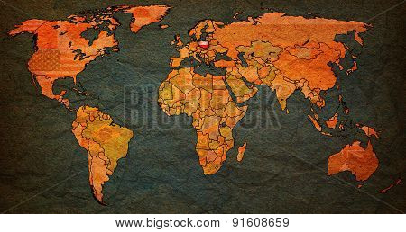 Poland Territory On World Map