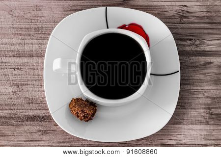 Black coffee with muscovado sugar