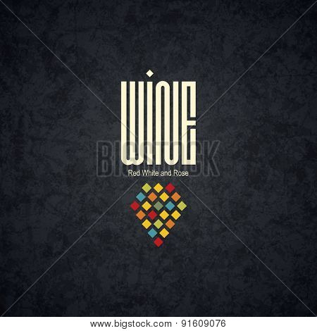 Modern logotype for wine shop, winery, wine list, restaurant