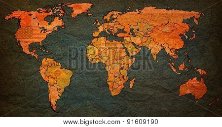 South Korea Territory On World Map