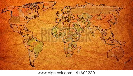 Spain Territory On World Map