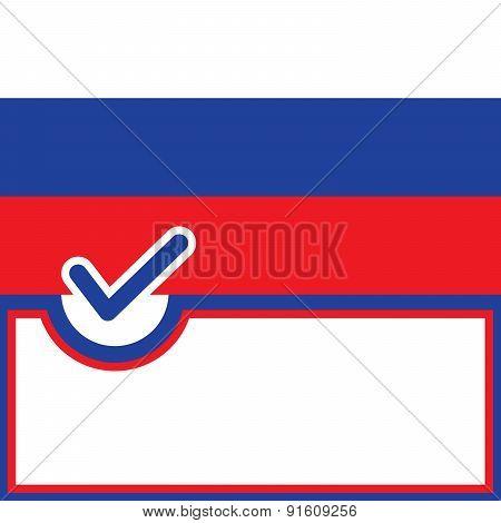 Voting Symbol Russia Flag