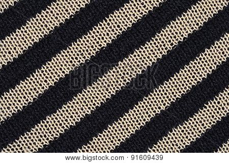 Striped Knitted Fabric Texture