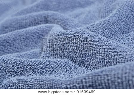 Texture Of Blue Terry Towel