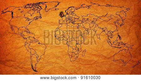 United Kingdom Territory On World Map