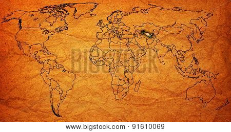 Uzbekistan Territory On World Map