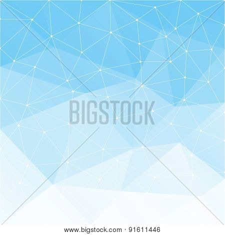 Light blue abstract background.